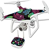 MightySkins Protective Vinyl Skin Decal for DJI Phantom 4 Quadcopter Drone wrap cover sticker skins Neon Tropics
