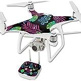 MightySkins Protective Vinyl Skin Decal for DJI Phantom 4 Quadcopter Drone wrap cover sticker skins Neon Tropics
