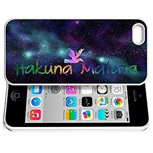 phone covers Africa Ancient Proverb HAKUNA MATATA Color Accelerating Universe Star Design Pattern HD Durable Hard Plastic Case Cover for iPhone 5c