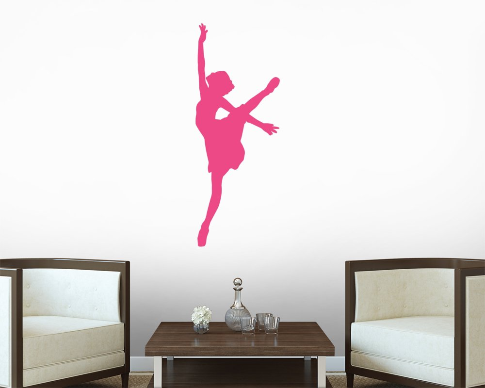 amazon com ballet wall decals hot pink ballerina silhouette amazon com ballet wall decals hot pink ballerina silhouette wall decal 12 inches x 5 inches peel and stick removable graphic home kitchen