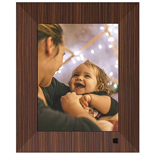- NIX Lux Digital Photo Frame 8 inch X08F, Wood. Electronic Photo Frame USB SD/SDHC. Digital Picture Frame with Motion Sensor. Control Remote and 8GB USB Stick Included