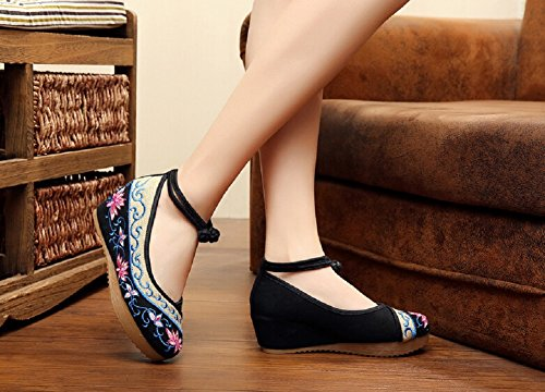 Lazutom de c con mujer bordado estilo sandalias chino aRaOv