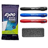 EXPO Low-Odor Dry Erase Click Retractable Marker Set, Chisel Tip, Assorted Colors, 4-Piece