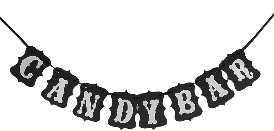 Candy Bar Guirlande Banni/ère Banderole D/écoration