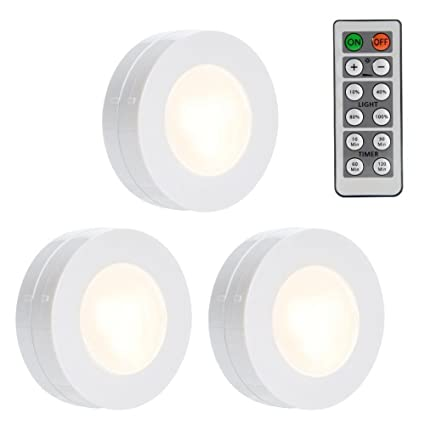 Lunsy Wireless Led Puck Lights Dimmable Closet Lights Battery