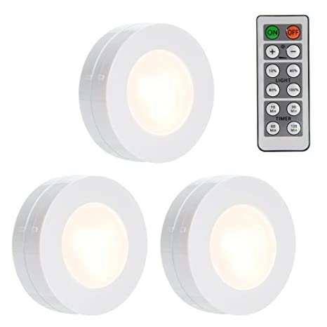 Lunsy wireless led puck lights closet lights battery operated lunsy wireless led puck lights closet lights battery operated with remote controll kitchen under mozeypictures Choice Image