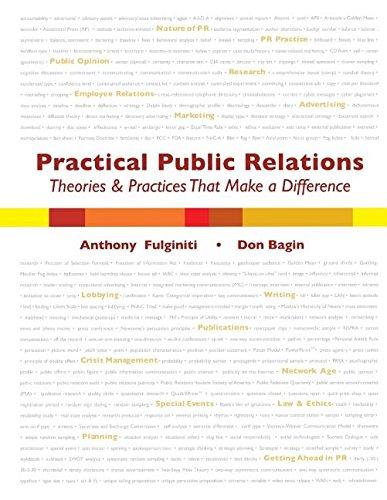 Practical Public Relations: Theories & Techniques...