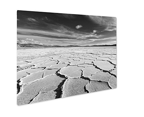 Ashley Salt Desert Salinas, Wall Art  Metal Panel, Black & White