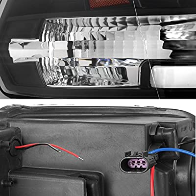 For 2009-2020 Dodge Ram 1500 2500 3500 Truck LED Tube Black Projector Headlights Left+Right Replacement: Automotive