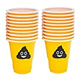 1 Oz Pile Of Happy Poop Emoji Plastic Party Shot Cups, One Pack Of 20