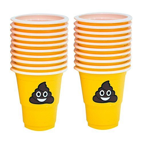 1 Oz Pile Of Happy Poop Emoji Plastic Party Shot Cups, One P