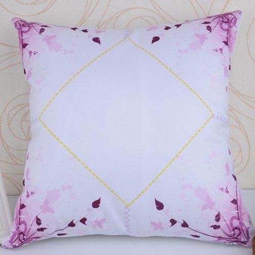 Color morado flores de sublimación funda de almohada 40 cm x ...