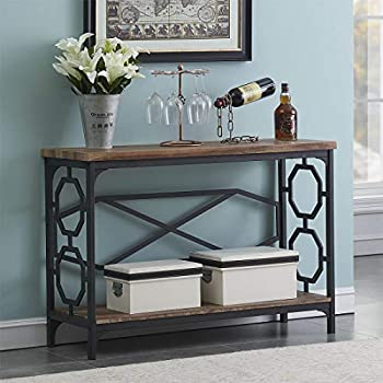 Amazon Com Weathered Grey 3 Tier Occasional Console Sofa