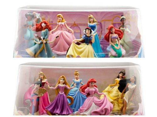 Bundle - 2 Items: Disney Princess Mini-figure Play Sets #1 and #2 - 14 Pc.