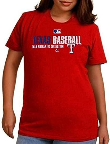 Texas Rangers MLB auténtico colección en campo camiseta de mujer Plus tamaño 1 x: Amazon.es: Deportes y aire libre