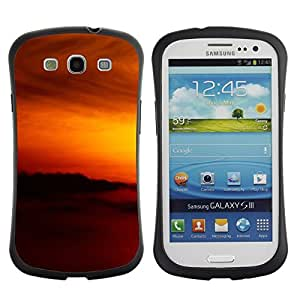 "Hypernova Slim Fit Dual Barniz Protector Caso Case Funda Para SAMSUNG Galaxy S3 III / i9300 / i747 [Sunset Beautiful Nature 79""]"