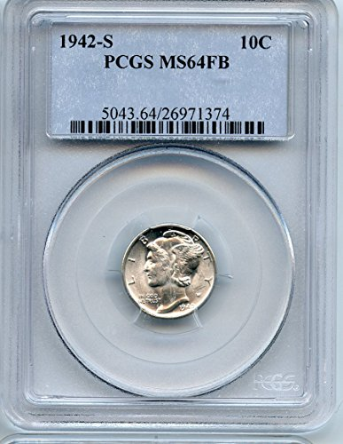 1942 S Mercury FB Dime MS-64 PCGS