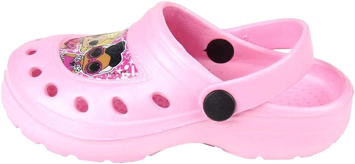 Fuchsia and Pink 2 Colors Sizes from 9,5 Child to 1 Artesan/ía Cerd/á Clogs Girls LOL Surprise!