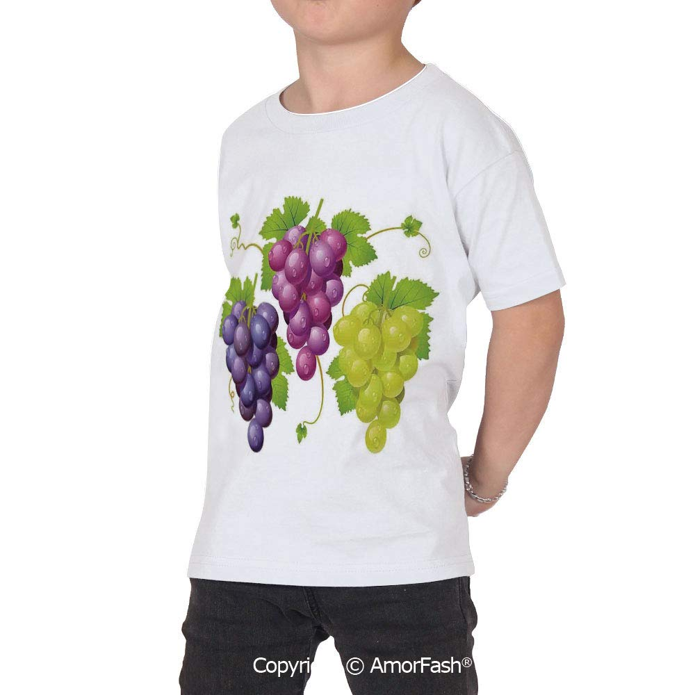 Grapes Home Decor Distinctive Childrens Premium Polyester T-Shirt,XS-2XL,Three