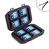 8 SD Card Digital Media Storage Wallet Carrying Case and Protective Weatherproof Holder- Perfect Accessory for Nikon Coolpix, Canon PowerShot , Pentax and Many More Digital Cameras! *Includes Mini Tripod!*
