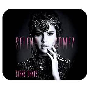 Selena Gomez Customized Standard Rectangle Mouse Pad Mouse Mat (Black)