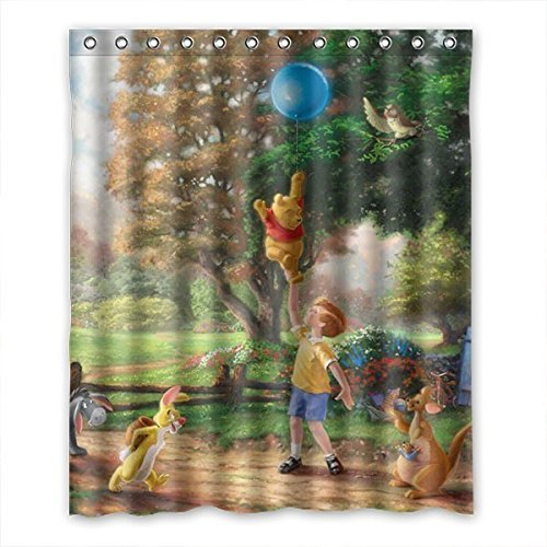 Aloundi Too Amazing Winnie the Pooh Print Waterproof Fabric Bath ' '