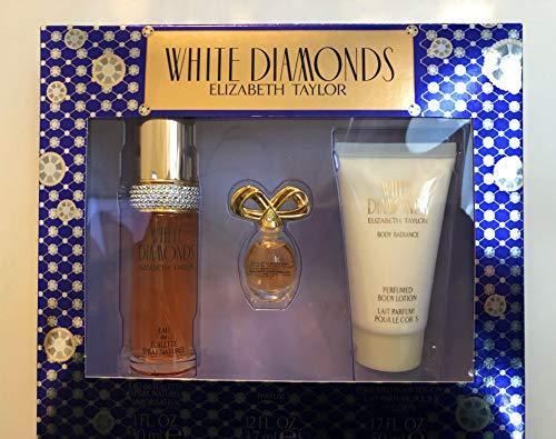 Elizabeth Taylor White Diamonds Ladies Gift Set With Spray, Body Lotion & Body Wash - Moisturizing Diamonds White Wash Body