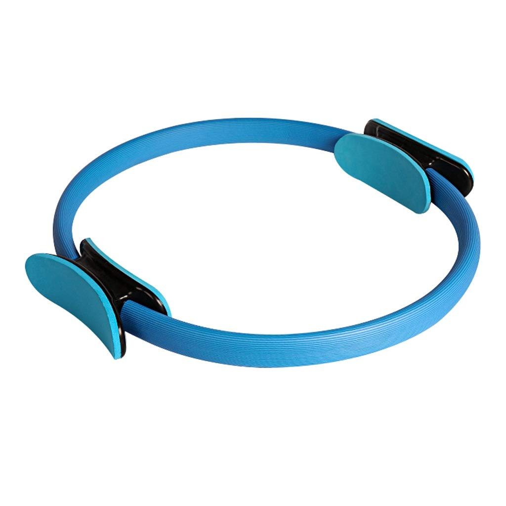 Dual Grip Magic Resistance Ring, 15 Inch/38cm Thighs Arms Chest Legs and Butt, for Physical Therapy Tool Fat Burnning Core Balance Strengthen Core (Color : Blue)