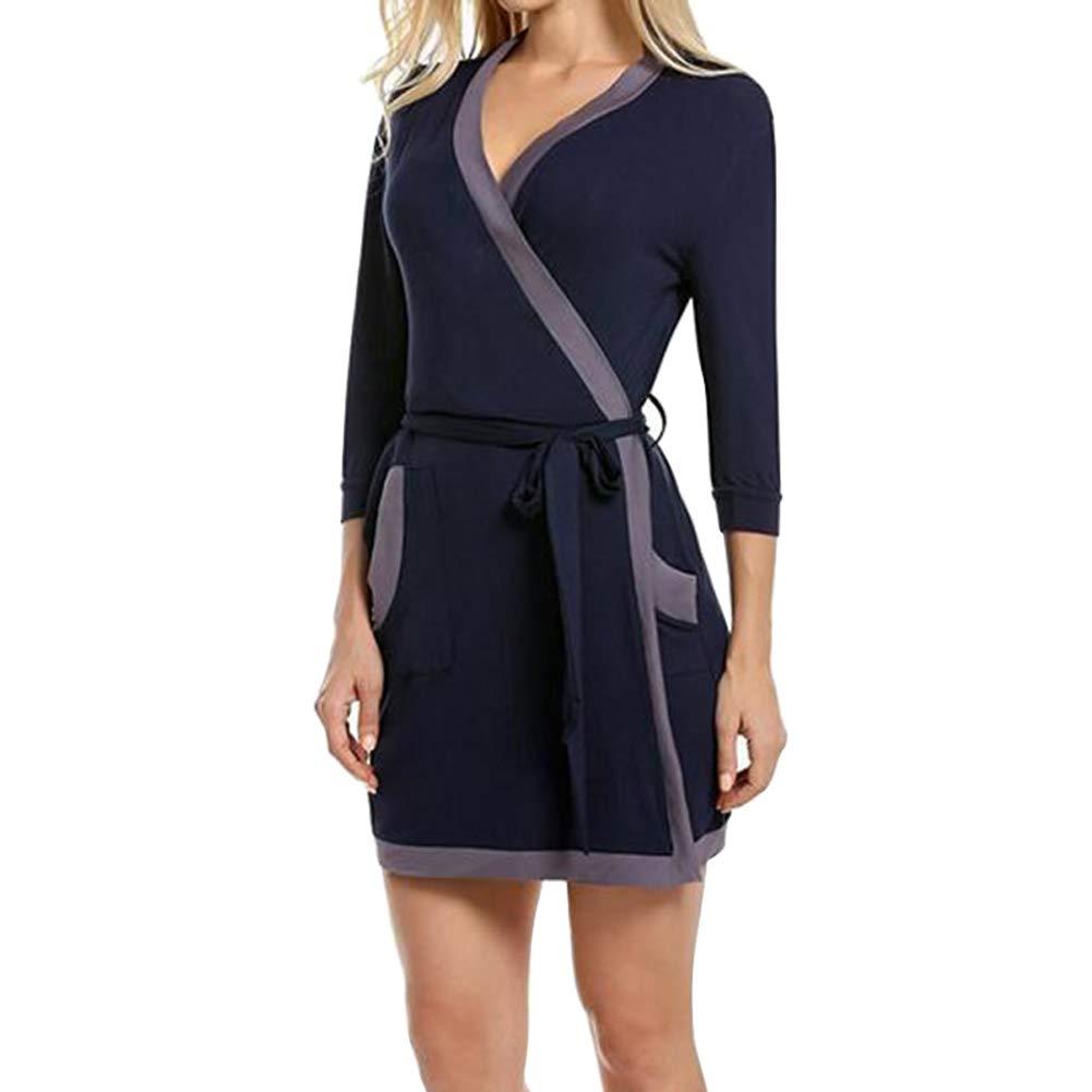 Funme Women Soft Lightweight Nightgowns Sleepwear Spa Robes