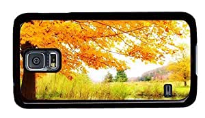 Hipster glitter Samsung S5 Cases Autumn scenery PC Black for Samsung S5