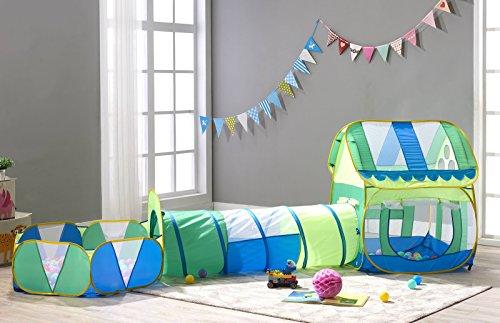 Pit Costume Tutorial (TRUEDAYS 3 in 1 Huge Green Play House Kids Adventure Play Tent Indoor Outdoor Tunnel Pool, no balls)