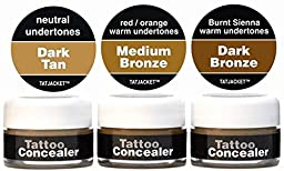 Tatjacket Concealer Blender Pack, Dark