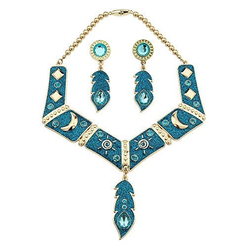 Disney Store Pocahontas Jewelry Set 3 Pcs Necklace Earrings Costume ()