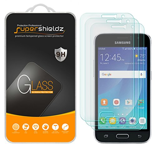 (3 Pack) Supershieldz for Samsung Galaxy Luna Tempered Glass Screen Protector, Anti Scratch, Bubble Free