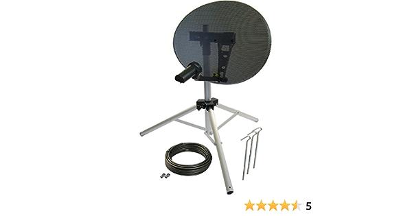 Satgear - Antena parabólica portátil (43 cm, sin localizador ...