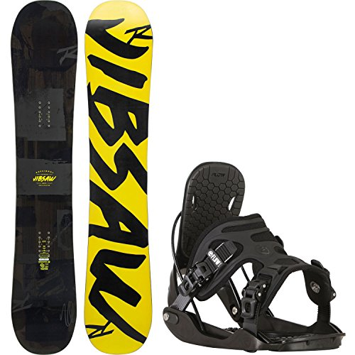 Rossignol Jibsaw Magtek 157cm Mens Snowboard + Flow Alpha Bindings - Fits US Mens Boots Sized: 8,9,10,11 (Packages Rossignol Snowboard)