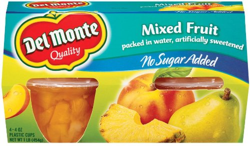 Del Monte Mixed Fruit 4 -4 oz (4 PACK)