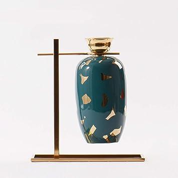 GAOLI Bouche Fine Vase en Céramique Décoration Style Chinois Florale ...