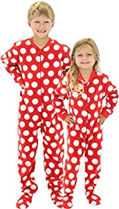 SleepytimePjs Kid's Printed Fleece Onesie PJs Footed Pajama