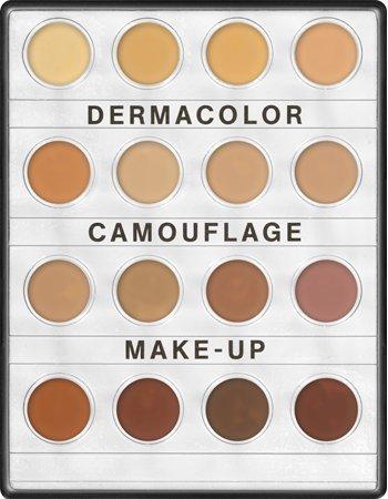 Kryolan 71006 Dermacolor Camouflage Mini palette, 16 Colors. 3 Color Variations (MEDIUM, Nr.1, Nr. 2) (Nr. 1)