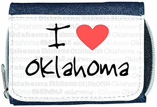 I Love Heart Oklahoma Denim Wallet