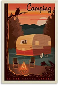 ZXZC Vintage Travel Poster Camping is for Nature Lovers Canvas Art Poster Picture Modern Office Family Bedroom Decorative Posters Gift Wall Decor Painting Posters