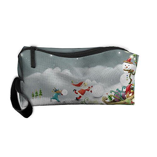 Cosmetic Bags Play With Snowballs Makeup Bag Brush Pouch Por