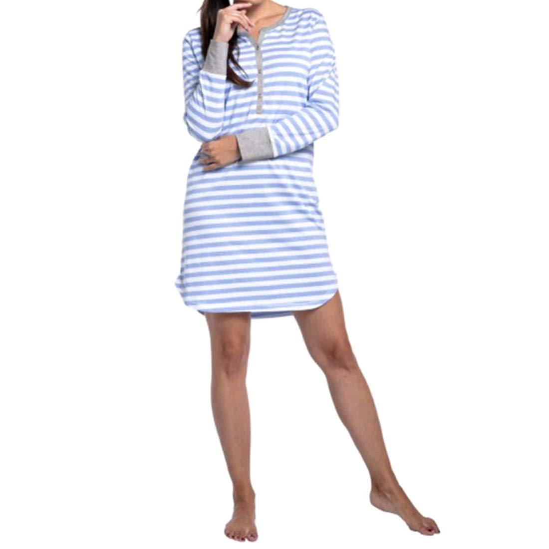 großer Rabatt großer Verkauf klassischer Chic Gestreiftes Stillkleid Der Frauen Stillkleidung Schwangere ...