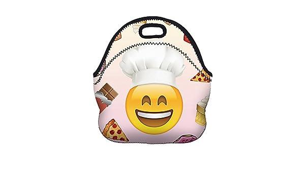 MYLEDI Isotermica de Almuerzo Bolsa, Emoji del Chef Neopreno Bolsa ...