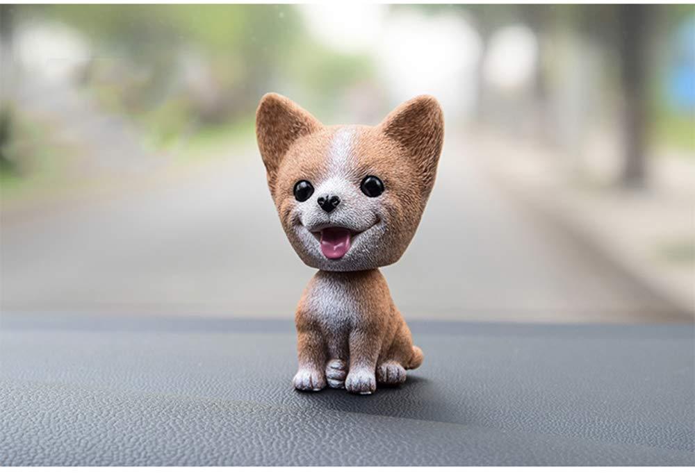 Sibirischer Husky Fontee Auto Nette Nicken Sch/ütteln Kopf Hund Puppe Verzierungen Auto Interieur Innendekoration Bobblehead Wackelkopf Dashboard Dekoration