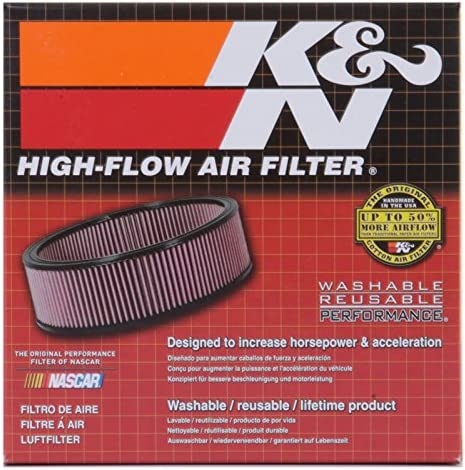 Universal Air Filters 2H 5-3//8OD RC-2440 K/&N Universal Clamp-On Air Filter 2 FLG