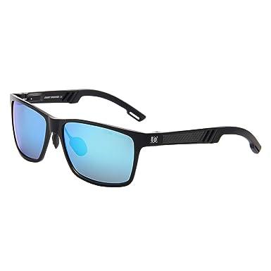 e0b8e229a Jimmy Orange Aluminum Magnesium Frame Mirrored Lens Polarized Men Women  Wayfarer Sunglasses JO661 (black frame