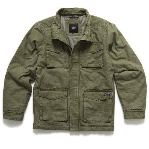 Alpinestars Sixty-Five Jacket , Distinct Name: Army, Size: Sm, Primary Color: Gray, Gender: Mens/Unisex 11311200069GS