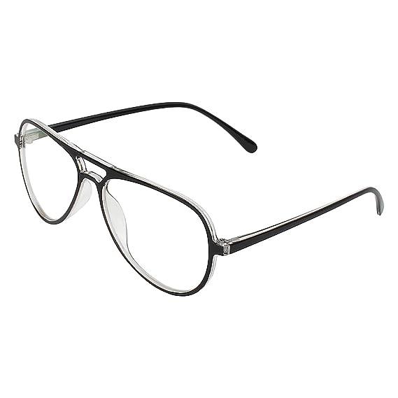 17145771b9 Zyaden Black Aviator Unisex Eyewear Frame 463  Amazon.in  Clothing    Accessories